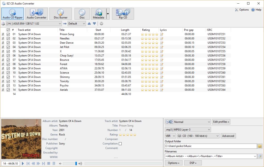 EZ CD Audio Converter Ultimate latest version