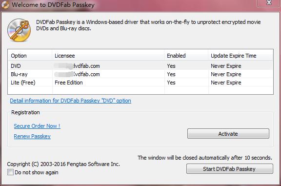 DVDFab Passkey windows