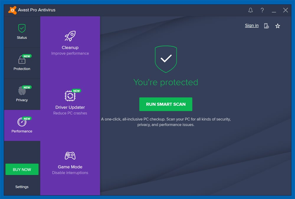 Avast Pro Antivirus windows