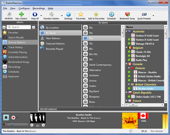TapinRadio Pro windows