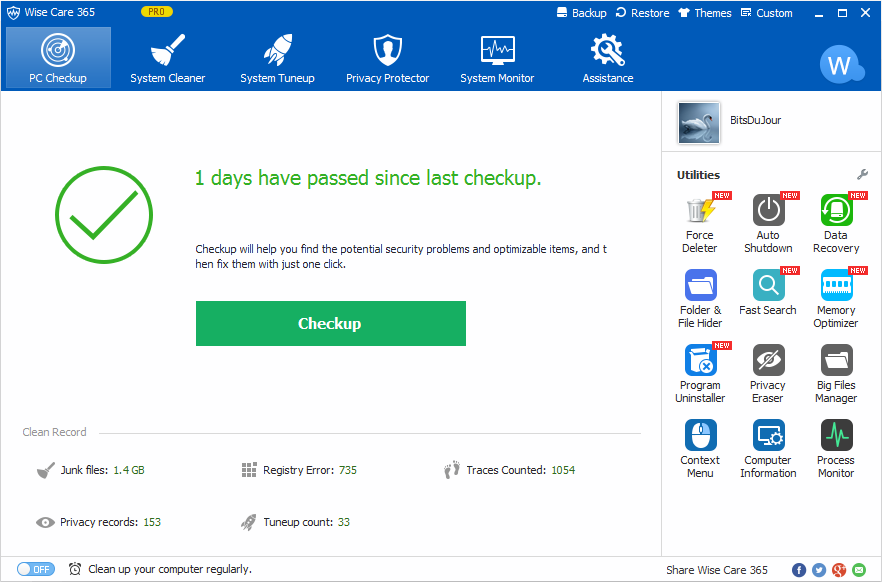 Wise Care 365 Pro latest version