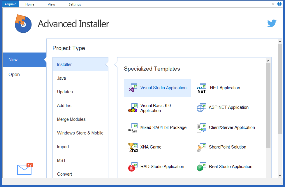 Advanced Installer Architect windows