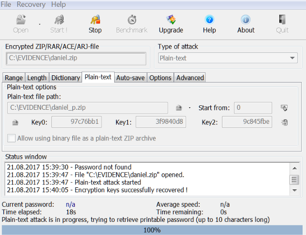 Atomic RAR Password Recovery latest version
