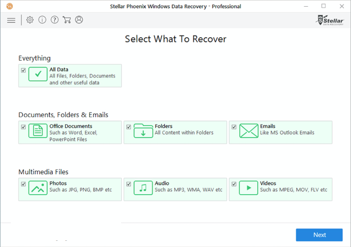 Stellar Phoenix Windows Data Recovery Professional windows