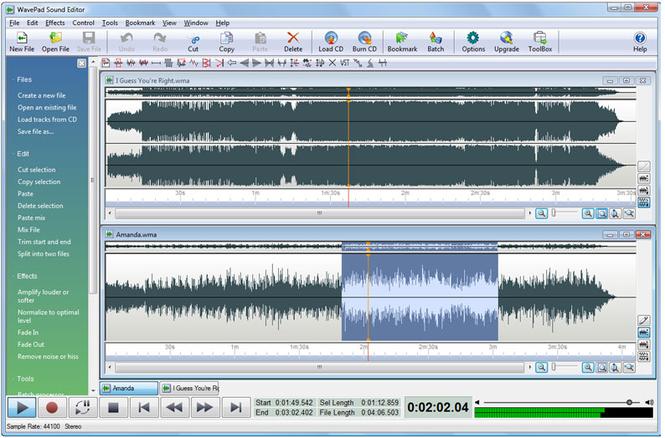 WavePad Sound Editor latest version