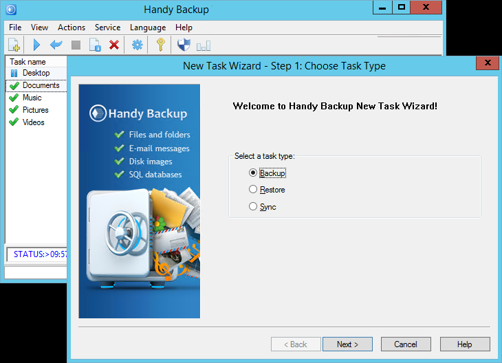 Handy Backup Professional latest version