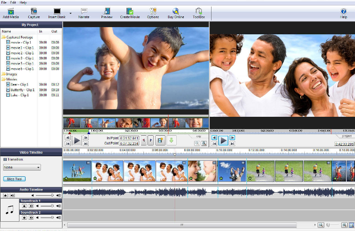 VideoPad Video Editor windows