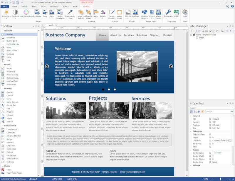 WYSIWYG Web Builder windows