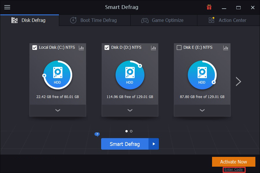 IObit Smart Defrag Pro windows
