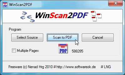 WinScan2PDF windows