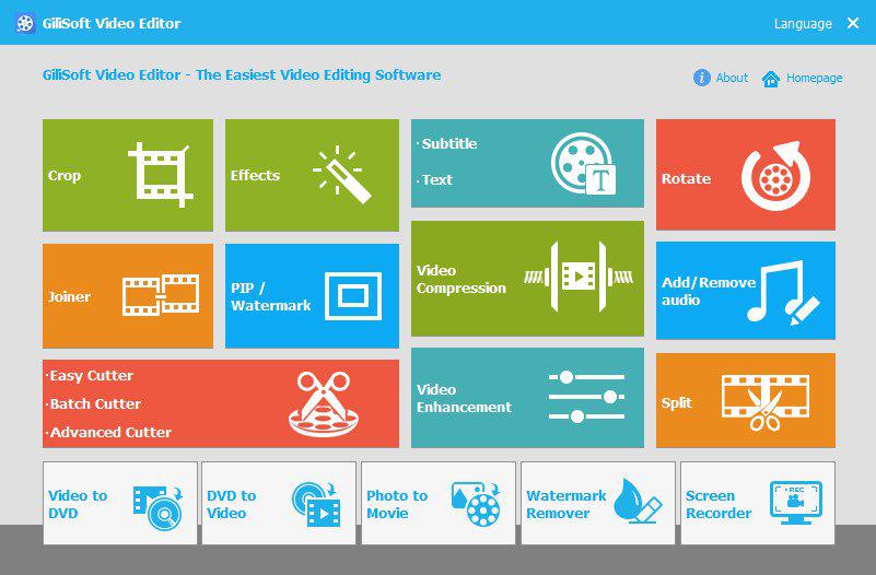 GiliSoft Video Editor windows
