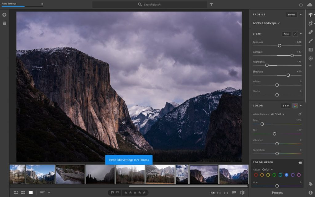 Adobe Lightroom CC latest version