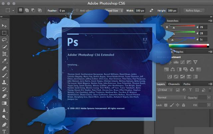 Adobe Photoshop CS6 windows