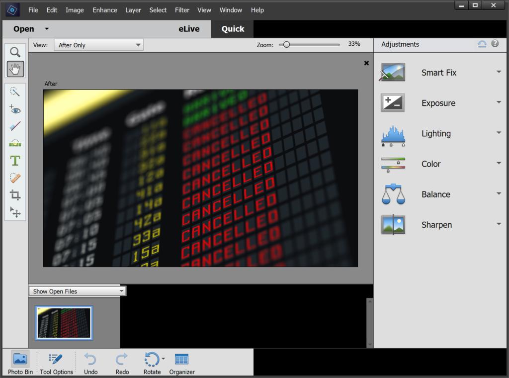 Adobe Photoshop Elements windows