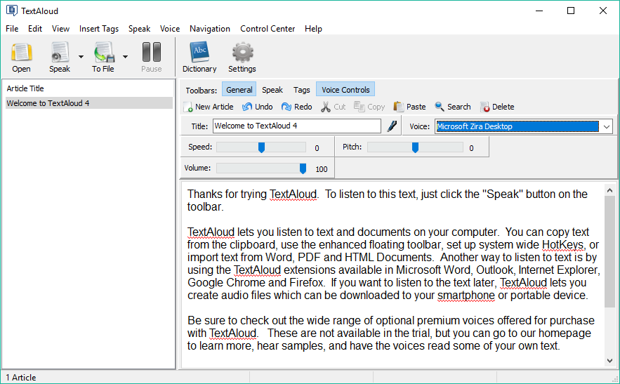 NextUp TextAloud windows