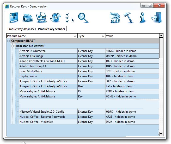 Recover Keys latest version
