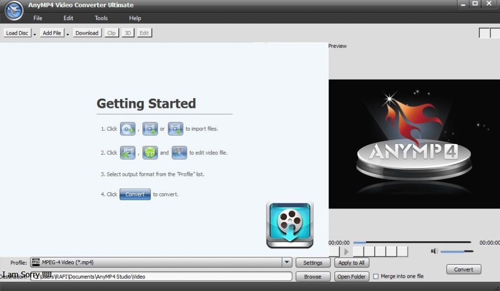 AnyMP4 Video Converter Ultimate windows