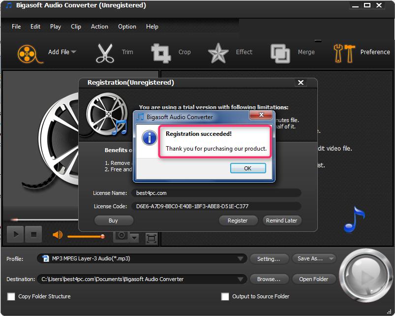 Bigasoft Audio Converter latest version