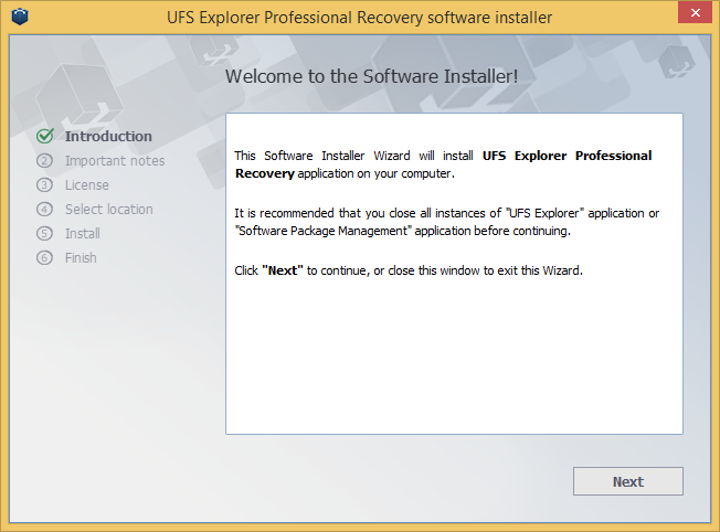 UFS Explorer Professional Recovery windows