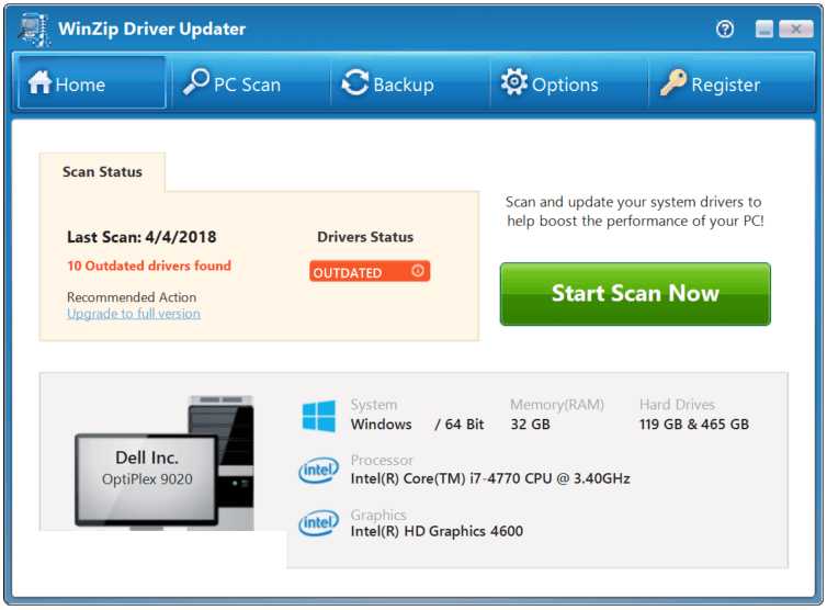 WinZip Driver Updater latest version