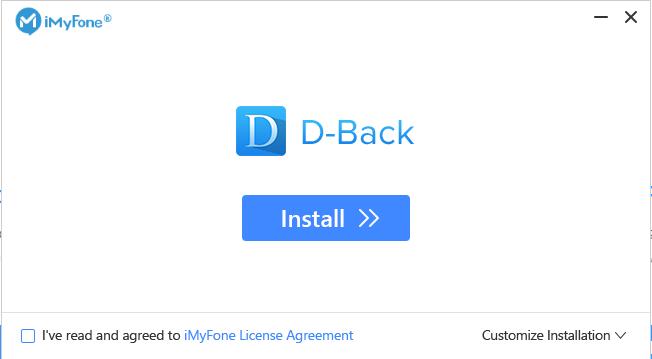 iMyFone D-Back latest version