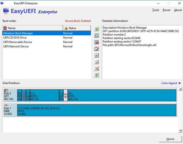 EasyUEFI Enterprise windows