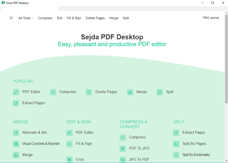 Sejda PDF Desktop Pro windows