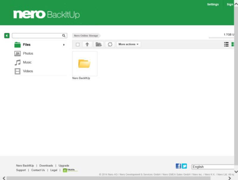 Nero BackItUp latest version