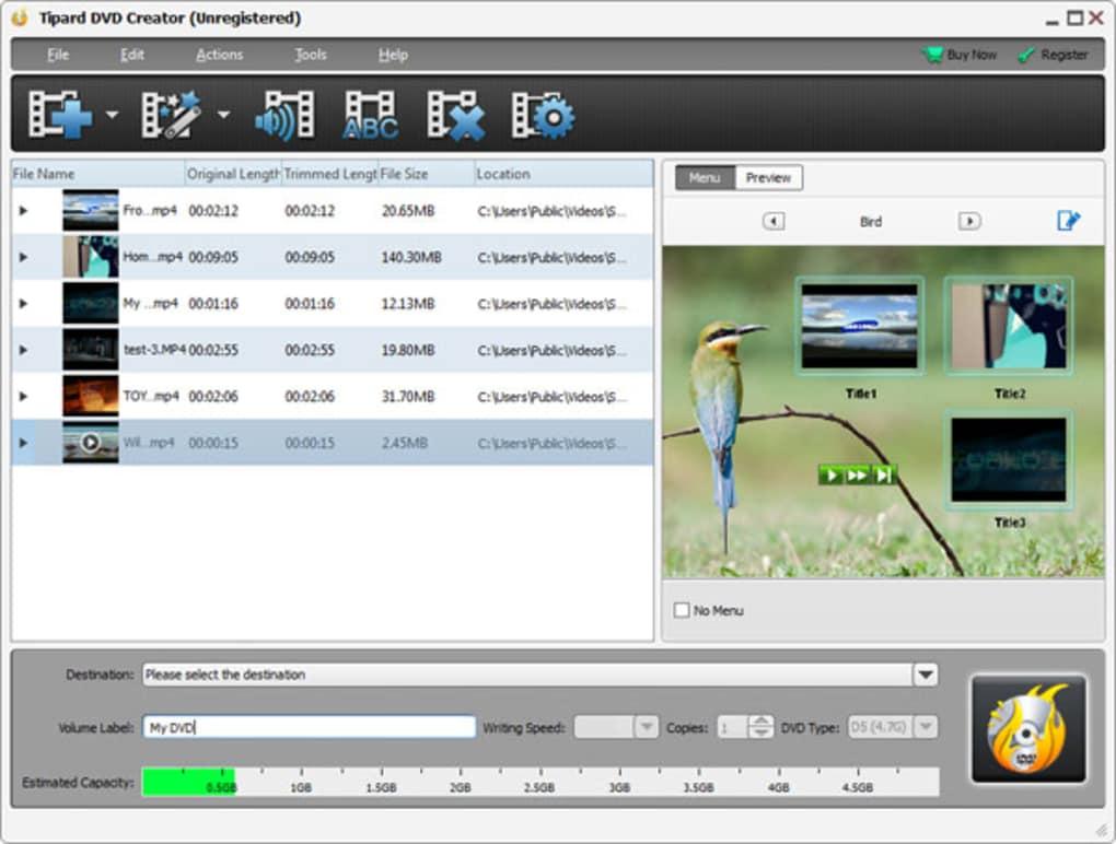Tipard DVD Creator windows